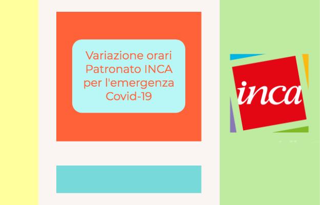 Variazione Orari Patronato INCA